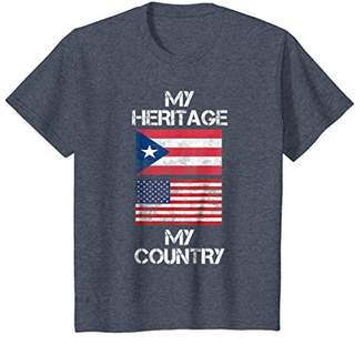 My Heritage My Country Puerto Rican American T-Shirt