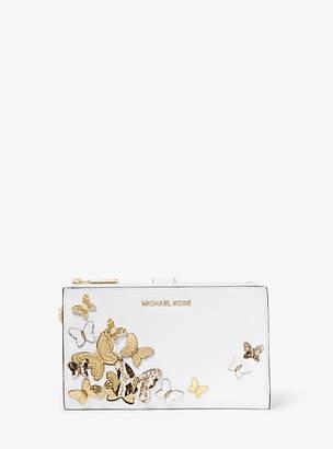Michael Kors Adele Butterfly Embellished Leather Smartphone Wallet