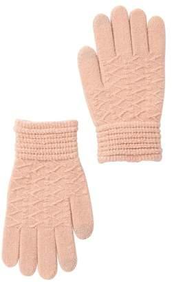 Steve Madden Lurex Knit Tech Gloves