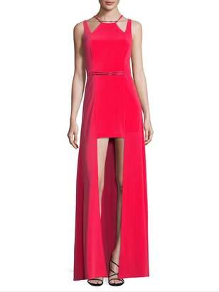 Halston Women's Cut-out Hi-Lo Gown