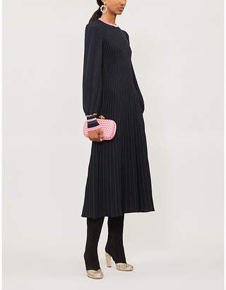 Roksanda Mereza blouson-sleeved knitted midi dress