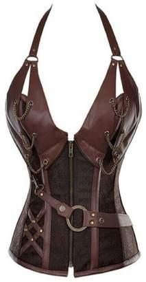 7a8712cefd4 Lorembelle Women s Steampunk Retro Steel Boned Corset Waist Cincher  Shapewear