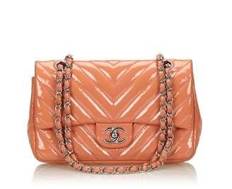 Chanel Vintage Chevron Chain Flap Bag
