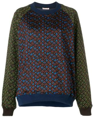 Marni raglan sleeve pattern sweatshirt