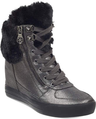 GUESS Women Dustyn Wedge Sneakers Women Shoes