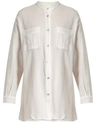 Loup Charmant - Hafia Band Collar Cotton Shirt - Womens - White