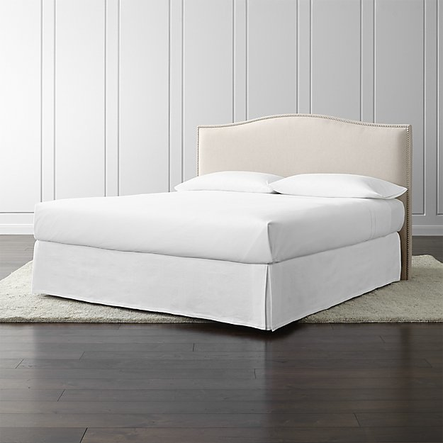Crate & Barrel Colette Upholstered King Headboard