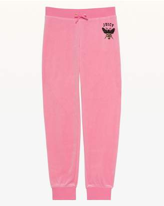 Juicy Couture Bee's Knees Velour Zuma Pant for Girls