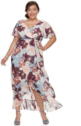 Plus Size Chaya Split Short Sleeve Maxi Dress