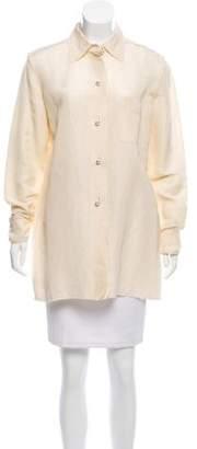 Lanvin Silk Button-Up Tunic