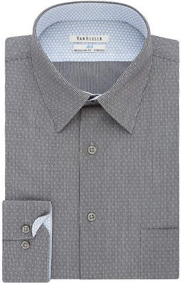 Van Heusen Air Long Sleeve Broadcloth Geometric Dress Shirt- Big And Tall