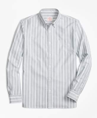 Brooks Brothers Stripe Oxford Cotton Sport Shirt