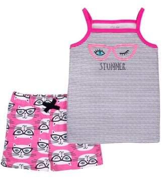 Little Star Organic Little Star Toddler Girl Tank Top & Shorts, 2pc Outfit Set