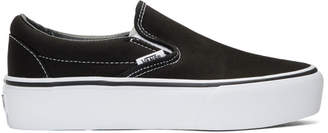Vans Black Classic Platform Slip-On Sneakers