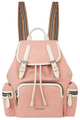 Burberry Medium Contrast Buckled Rucksack