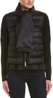 Moncler Wool-Panel Short Down Jacket