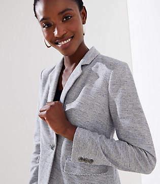 LOFT Striped Knit Modern Blazer
