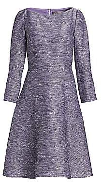 Lela Rose Women's Sequin Embroidered Tweed Dress