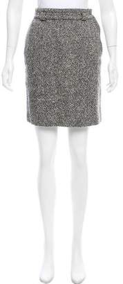 Gianni Versace Wool Pencil Skirt
