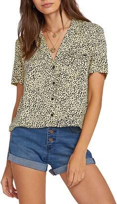 Volcom Gen Wow Leopard Print Shirt