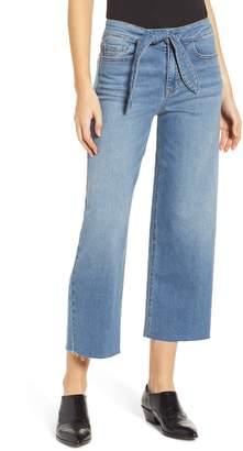 PROSPERITY DENIM Belted Crop Wide Leg Jeans