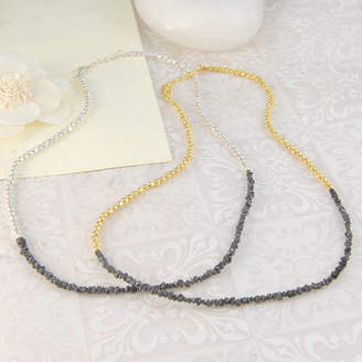 Black Diamond Embers Gemstone Jewellery Fine Silver And Gold Wedding Necklace