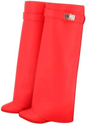 Givenchy Shark Red Leather Boots