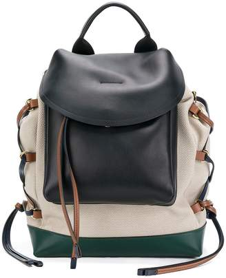 lace-up panelled backpack