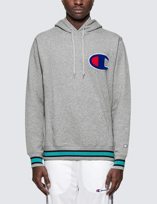 Champion Colored Rib Big C Logo Hoodie