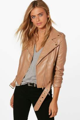 boohoo Faux Leather Vegan Biker