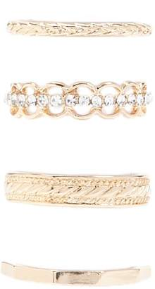 Forever 21 Textured Bands Ring Set