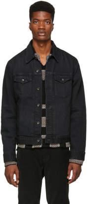 Rag & Bone Black Definitive Jean Denim Jacket