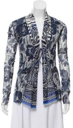Jean Paul Gaultier Soleil Printed Shawl Collar Cardigan
