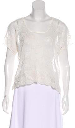 Ralph Lauren Sheer Floral Top