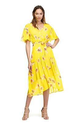 Country Road Hibiscus Floral Dress