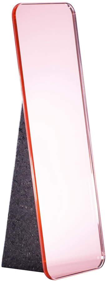 Pulpo - Olivia Tischspiegel H 38 cm, Rosa / Standfuß schwarz