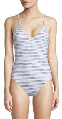 Dolce Vita One-Piece Striped Swimsuit