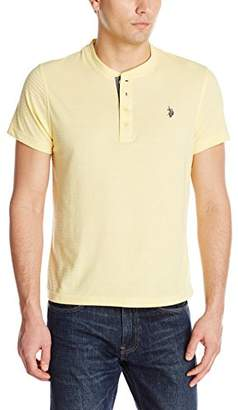 U.S. Polo Assn. Men's Slim Fit Textured Henley T-Shirt