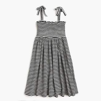 J.Crew Girls' smocked-bodice dress in stripes