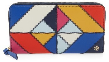 Tory Burch Women's Tory Burch Diamond Stitch Zip Continental Wallet - Blue