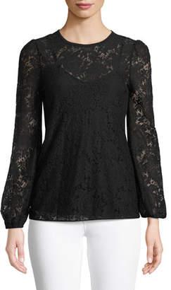 MICHAEL Michael Kors Long-Sleeve Lace Top