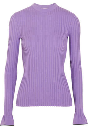 Emilio Pucci - Ribbed-knit Top - Lavender $850 thestylecure.com