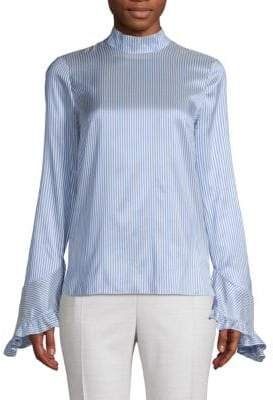 93f6640a47984 Erdem Lindsay Striped Silk Blouse