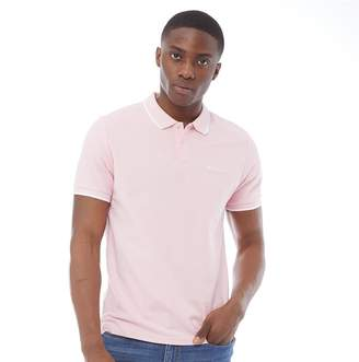 a908ed18032ceb Ben Sherman Short Sleeve Tipped Pique Polo Pale Pink