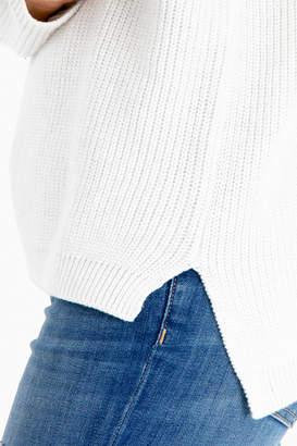525 America Winter White Melange Emma Crewneck Shaker Sweater