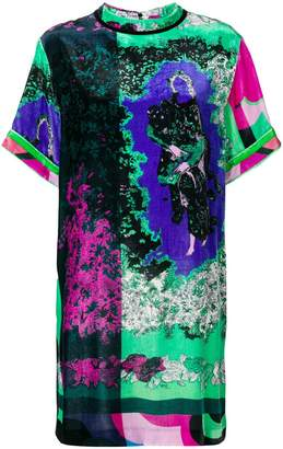Emilio Pucci printed velvet shift dress