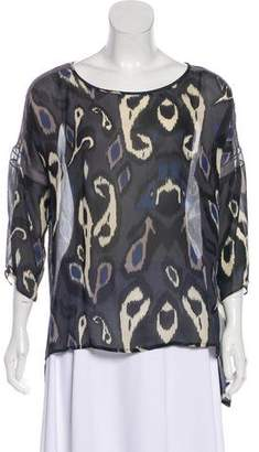 Rag & Bone Printed Silk Blouse