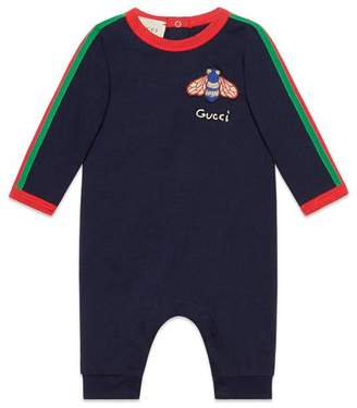 Gucci Baby cotton sleepsuit with Web