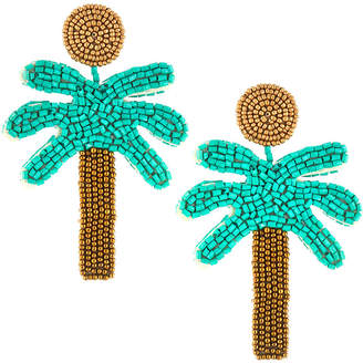 Kenneth Jay Lane Palm Tree Drop Earrings