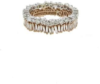 Suzanne Kalan Double Diamond Round Baguette Eternity Ring